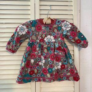 Pumpkin Patch Corduroy flower print dress